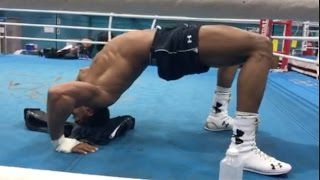 ANTHONY JOSHUA DOING THE