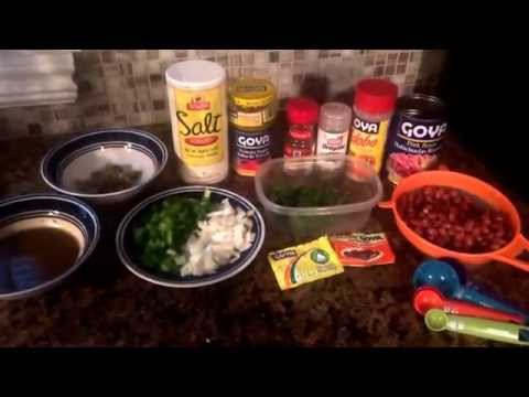 How to make spanish white rice and beans