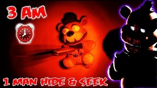 (GONE WRONG!) 3 AM ONE MAN HIDE AND SEEK CHALLENGE WITH NIGHTMARE FREDDY FAZBEAR | FREDDY APPEARS!