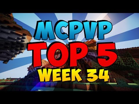 Minecraft PVP | MCPVP Top 5 | Week 34 MLG Skillz