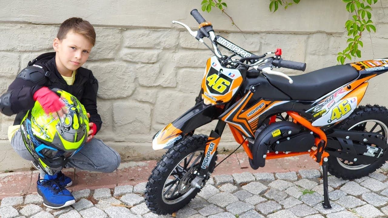ALİ YENİ BENZİNLİ MOTOR KULLANIYOR Cute Little Boy Ride on Power Wheel Cross Mini Bike for Kids