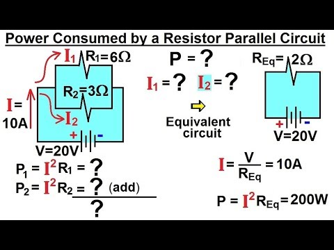 Physics - E&M: Ch 41.3 Ohm's Law & Resistor Circuit Understood (13 of 27) Power: Parallel Resistor