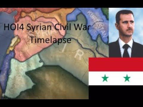 HOI4 (Hearts of Iron IV) Syrian Civil War Timelapse [2017 Start date] [Modern Day 4 mod]