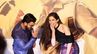 Ranveer Singh और Sara Ali Khan के Cute Moment | Simmba Trailer Launch