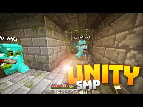 Minecraft Realms! - Unity SMP S2 Ep. 13 -  STRONGHOLD EXPLORATION w/ AGHQ & DARK!!