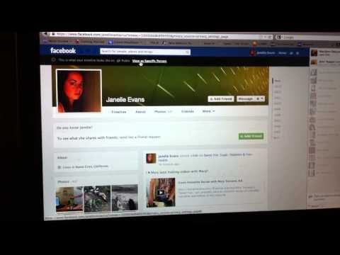 How to see what your Facebook profile looks like to other people