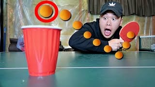 IMPOSSIBLE PING PONG TRICK SHOTS CHALLENGE!!
