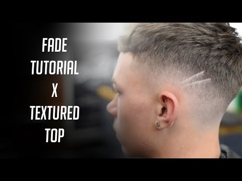 BARBER FADE TUTORIAL X TEXTURED TOP (Step by Step)