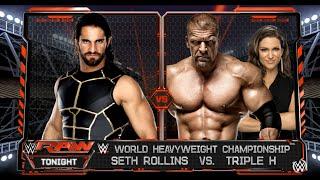 Seth Rollins vs.Triple H - WWE World Heavyweight Championship Match: Raw, WWE 2K16