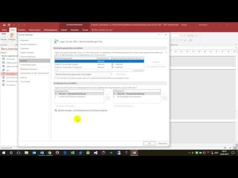 MS Access, Office 365: Change Language of User Interface