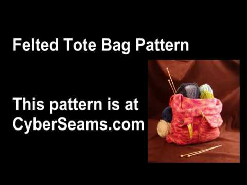 Knitted Felted Tote Bag - Attach the Strap