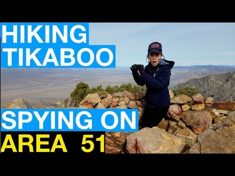 Snooping Around Area 51 Part 2: Hiking Tikaboo Peak to Spy Inside the Secret Government Base!