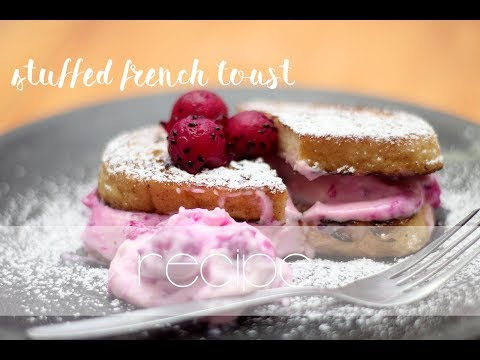 Stuffed French Toast - french toast stuffed with creamcheese and dragon fruits