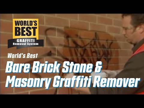 WORLD'S BEST BARE BRICK, STONE AND MASONRY GRAFFITI REMOVER