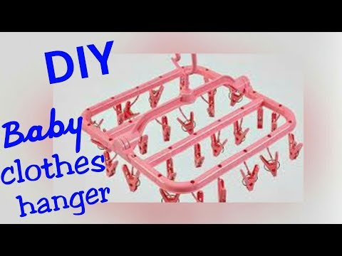 DIY   How to make baby clothes hanger at home   Best out of waste