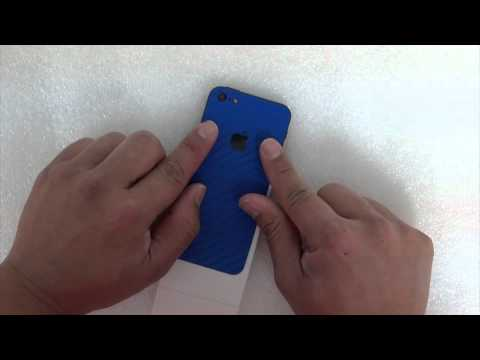 iPhone 5 Full Body Wrap Skin Kit Blue Carbon Fiber by Stickerboy