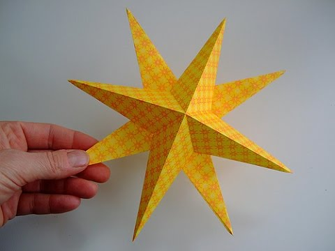How to make lucky 3D paper stars -  origami stars easy tutorial