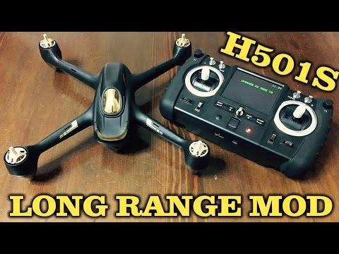 Hubsan H501S Advanced - Long / Extended Range Mod Tutorial! GUIDA FPV1 2.4 / 5.8G! - ITA