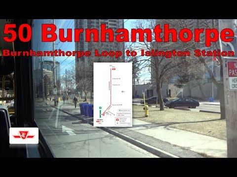 50 Burnhamthorpe - TTC 2007 Orion VII 8041 (Burnhamthorpe Loop to Islington Station)