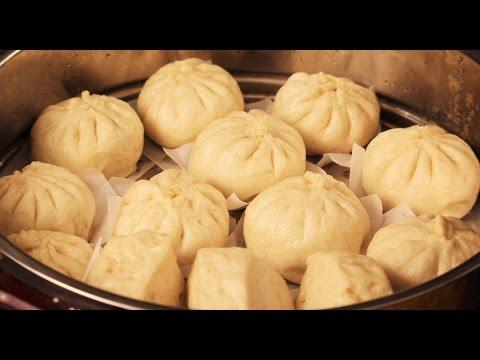 Vegan/Vegetarian-Chinese Vegetables Steamed Bun, Bao or Baozi