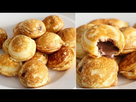 DIY Pancake Pockets WITHOUT the Pan!   Nutella-Stuffed Pancakes   EASY Ebelskiver Recipe