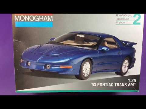 Monogram 1:25 1993 Pontiac trans am