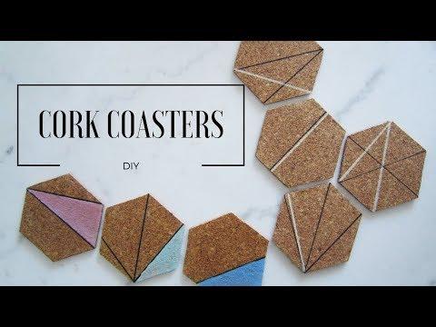 DIY  Hexagon Cork Coasters   MINIMALISTA
