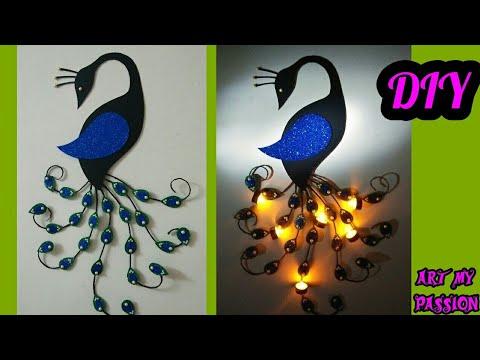 DIY Peacock Wall Hanging | DIY Wall Decor | Home Decorating ideas | DIY Wall Hanging | artmypassion