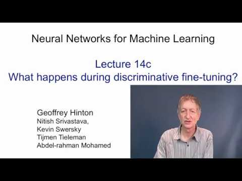 Lecture 14.3 — Discriminative fine tuning — [ Deep Learning | Geoffrey Hinton | UofT ]