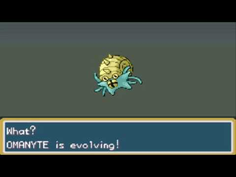Pokemon Fire Red Omanyte Evolves to Omastar HD
