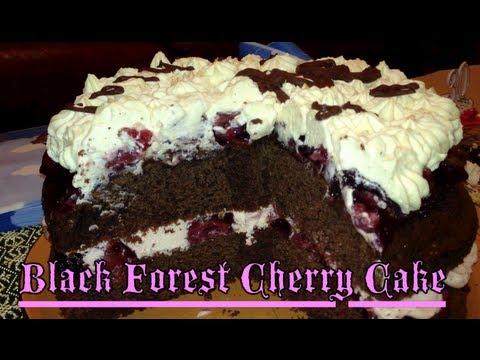 Black Forest Cherry Cake cheekyricho