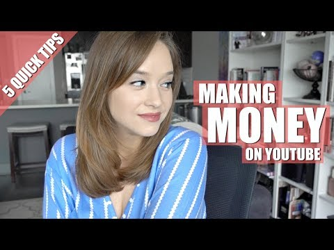 MAKING MONEY VLOGGING | 5 TIPS TO GET STARTED ON YOUTUBE