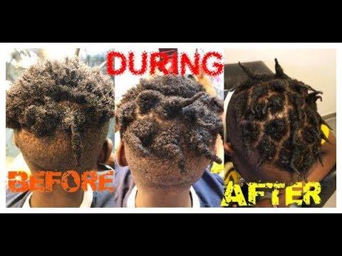 INSTANT LOCS ON  SHORT HAIR