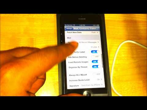 Setting Up Email Account on iPhone 5