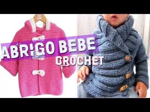 Abrigo Para Bebe Tejidos A Crochet Y Dos Agujas Playithub