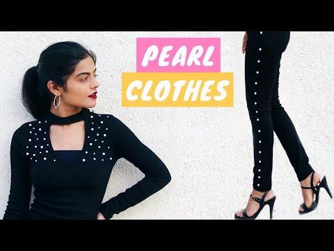 Transform Your Old Clothes: 5 DIY Pearl Embellish Clothes   Dhwani Bhatt
