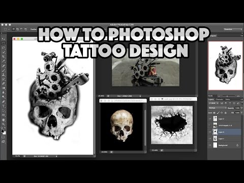 HOW TO PHOTOSHOP A TATTOO DESIGN