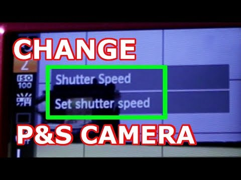 how to change the shutter speed on a canon powershot