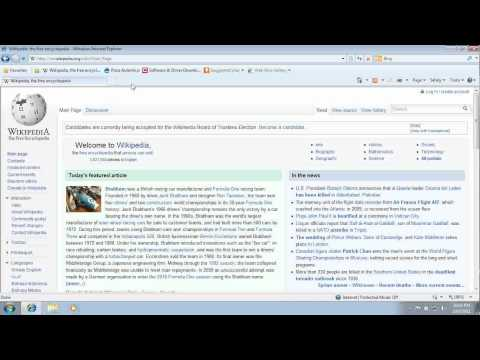 How To Add Favourites In Internet Explorer | Windows 7 How To