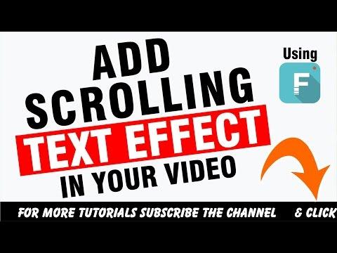 [FULL TUTORIAL] How To Add Scrolling Text Like Technical Guruji to Your Video | HINDI/URDU