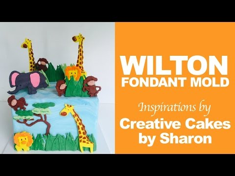 Cute Jungle Animal Cake ft. Wilton Mold | Creative Cakes by Sharon