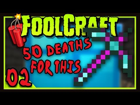 Foolcraft 3: The Ultimate Mega Loot Pickaxe!  (Minecraft Modded Survival Ep 2)