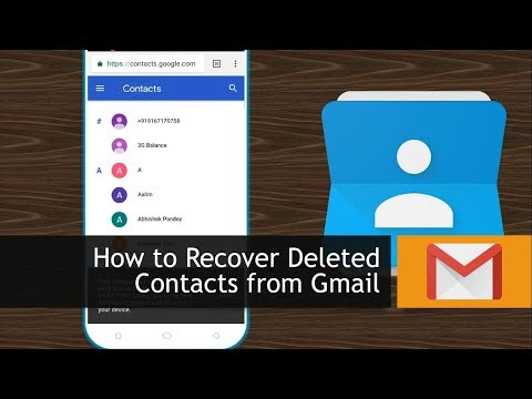 How to Recover Deleted Contacts from Gmail