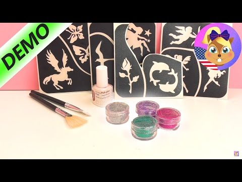 Temporary glitter tattoos to make yourself! How to: Temporary Glitter Tattoo