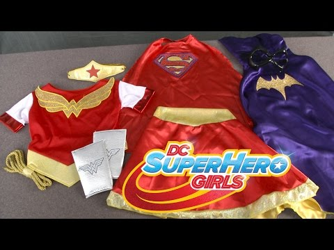 DC Super Hero Girls Batgirl, Supergirl & Wonder Woman Costumes from Rubies