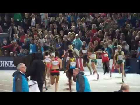 Womens 4 x100m Final at Glasgow 2014 Commonwealth Games