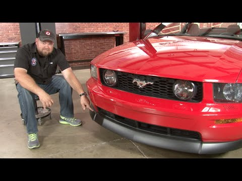 Mustang CDC Classic Front Chin Spoiler GT 2005-2009 Installation