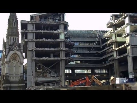 Demolition of Birmingham's old library