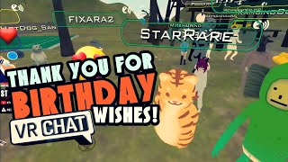 Thanks For The Wishes! | VRChat