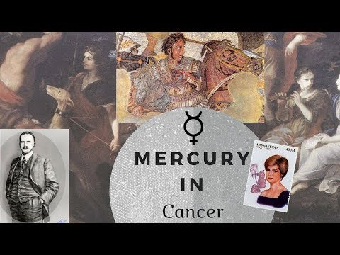 Mercury in Cancer Man or Woman
